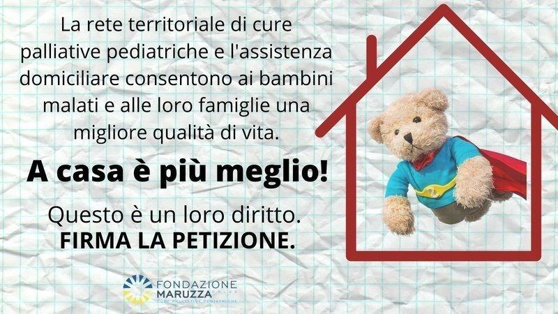 APPELLO URGENTE CURE PALLIATIVE PEDIATRICHE: IN ITALIA SU 30MILA BAMBINI MALATI, SOLO 1.500 LE RICEVONO OMS SU CURE PALLIATIVE PEDIATRICHE: 'UNA RESPONSABILITÀ ETICA E UN IMPERATIVO MORALE DEI SISTEMI SANITARI'.